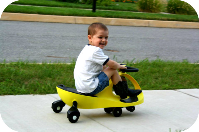 once the kids got the hang of it the plasmacar was so easy for them to ride ethan even rides it in cowboy boots