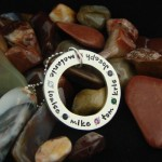 Hand Stamped Necklace With Birthstones