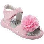 Wee Squeak Light Pink Peony Sandals