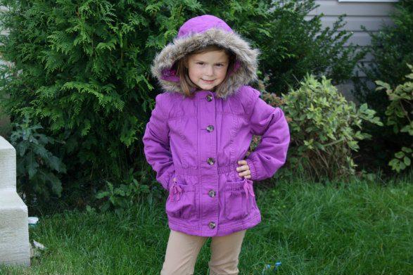 Cherokee Girls' Hooded Anorak Coat