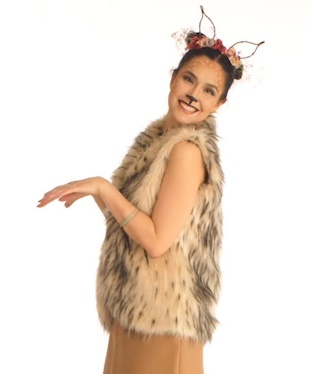 Deer: A Faux Fur Vest With A Neutral Colored Outfit Make The Best Staples.  To Complete The Look, Add An Antler Headband Created From Foliage In Your  ...